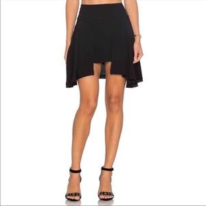 Free People New York Layered Black Mini Boho Skirt